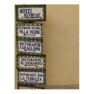 Cartão Postal Sinal de Capri