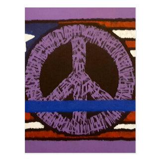 Cartão Postal Sinal de paz da polícia