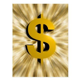 Cartão Postal Sinal do dinheiro