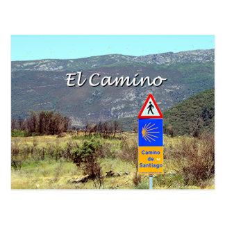Cartão Postal Sinal do EL Camino de Santiago (subtítulo)