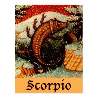 Cartão Postal Sinal do zodíaco da Escorpião