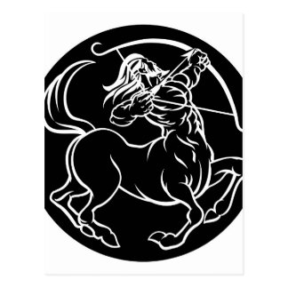 Cartão Postal Sinal do zodíaco do centauro do Sagitário do