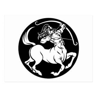 Cartão Postal Sinal do zodíaco do Sagitário do centauro