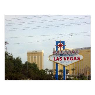 Cartão Postal Sinal famoso de Vegas