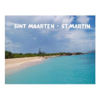 Cartão Postal Sint Maarten - cena da praia de St Martin