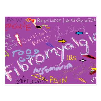 Cartão Postal Sintomas da fibromialgia