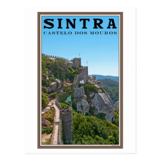 Cartão Postal Sintra - o castelo do amarra