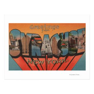 Cartão Postal Siracusa, New York - grandes cenas da letra