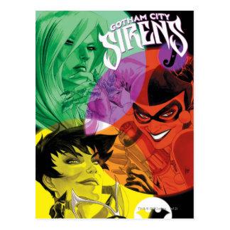 Cartão Postal Sirenes Cv14 da cidade de Gotham