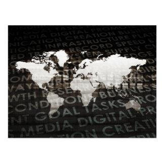 Cartão Postal Sistema de serviços global da assinatura como uma