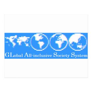 Cartão Postal Sistema inclusivo global da sociedade (VIDRO)