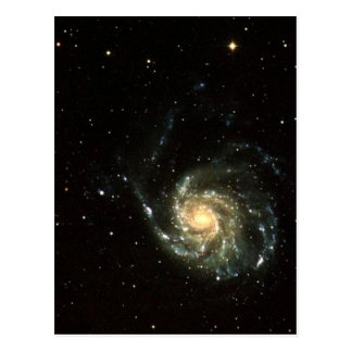Cartão Postal sistema solar da galáxia colorida da Via Láctea