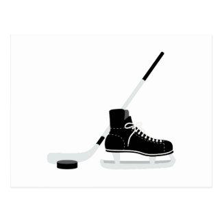 Cartão Postal Skate do hóquei em gelo