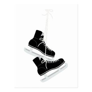 Cartão Postal Skates do hóquei em gelo