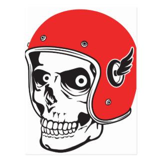 Cartão Postal ☞ Skullracer motorcycle helmet