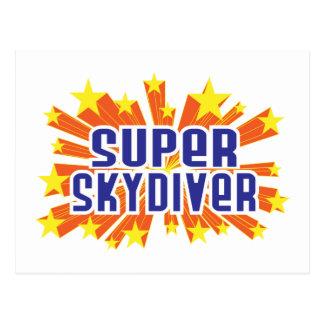 Cartão Postal Skydiver super