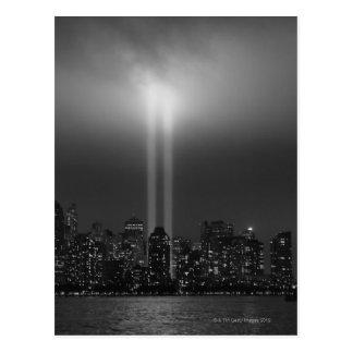Cartão Postal Skyline com 9/11, Nova Iorque de Manhattan