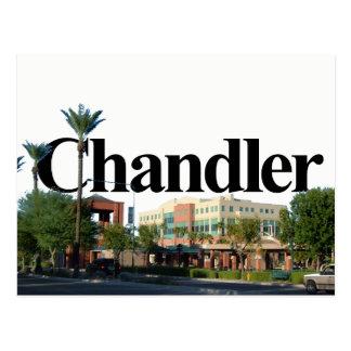 Cartão Postal Skyline da arizona de Chandler com Chandler no céu