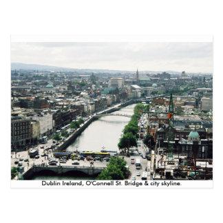 Cartão Postal Skyline da cidade de Ireland, ponte Dublin de