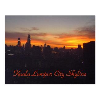 Cartão Postal Skyline da cidade de Kuala Lumpur