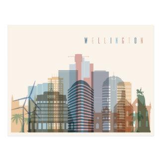 Cartão Postal Skyline da cidade de Wellington, Nova Zelândia |