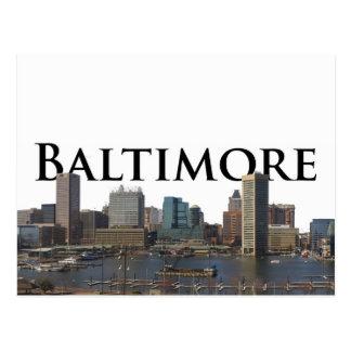 Cartão Postal Skyline da DM de Baltimore com o Baltimore no céu