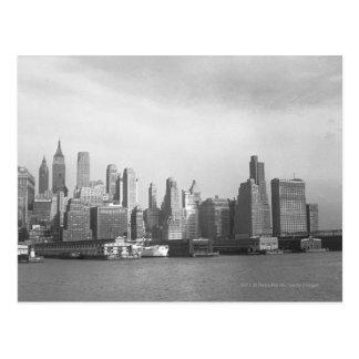 Cartão Postal Skyline da Nova Iorque dos Estados de Nova Iorque
