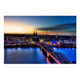 Cartão Postal Skyline de Alemanha da água de Colônia