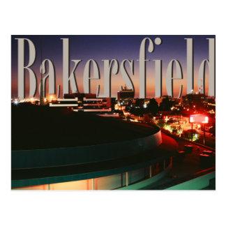 Cartão Postal Skyline de Bakersfield com o Bakersfield no céu