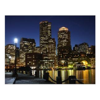Cartão Postal Skyline de Boston, Massachusetts
