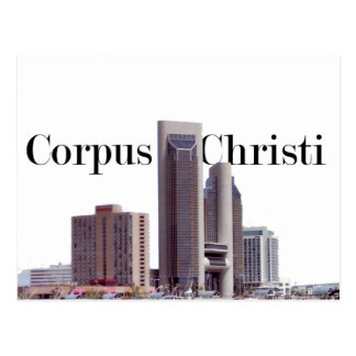 Cartão Postal Skyline de Corpus Christi com Corpus Christi no