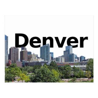 Cartão Postal Skyline de Denver com a Denver no céu