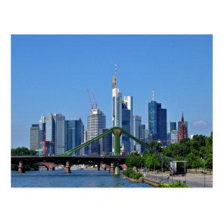 Cartão Postal Skyline de Francoforte