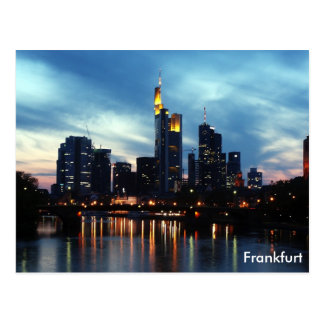 Cartão Postal Skyline de Francoforte, Alemanha
