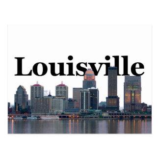Cartão Postal Skyline de Louisville KY com o Louisville no céu