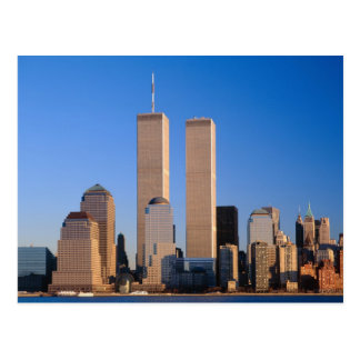 Cartão Postal Skyline de Manhattan e Rio Hudson, New York, 2