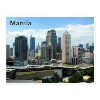 Cartão Postal skyline de manila