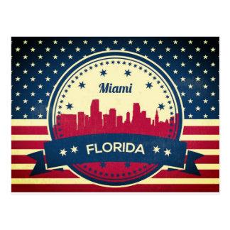 Cartão Postal Skyline de Miami Florida