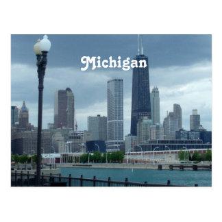 Cartão Postal Skyline de Michigan