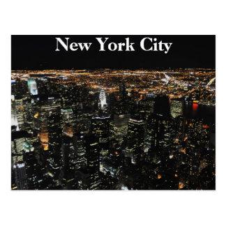 Cartão Postal Skyline de New York na noite