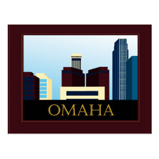 Cartão Postal Skyline de Omaha