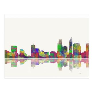 Cartão Postal Skyline de Perth WA