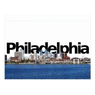 Cartão Postal Skyline de Philadelphfia com Philadelphfia no céu