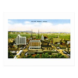 Cartão Postal Skyline de Phoenix, americana retro da arizona
