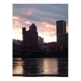 Cartão Postal Skyline de Portland da ponte de Hawthorne