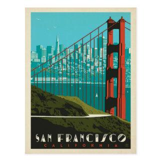Cartão Postal Skyline de San Francisco   golden gate bridge