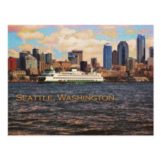 Cartão Postal Skyline de Seattle