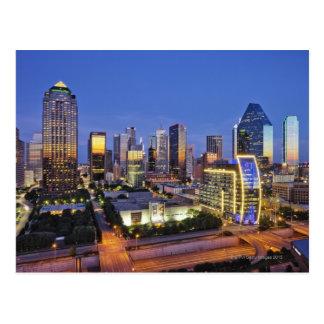 Cartão Postal skyline do centro de Dallas