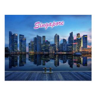 Cartão Postal Skyline do distrito financeiro central de