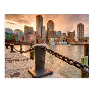 Cartão Postal Skyline do distrito financeiro de Boston